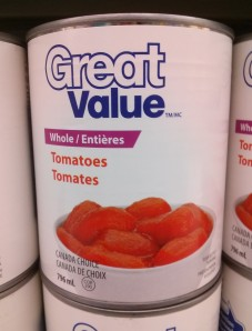 Great Value Whole Canned Tomatoes